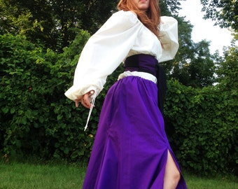 Women's Skirt with Two Slits Purple