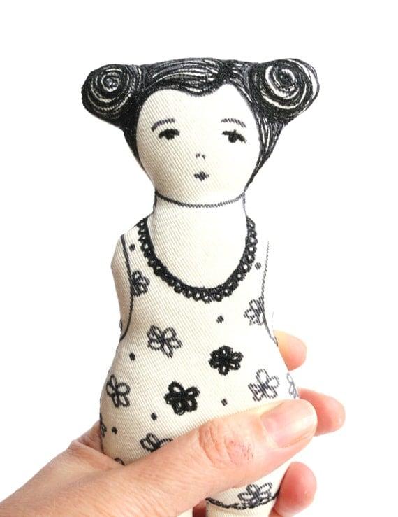 SERAFINA  / rag doll / soft doll / comfort doll / art doll / handmade toy / OOAK/ Valentine's gift