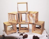 Modular Storage Cube - six 12 by 10 inch Cubbies --- ponderosa pine, eco-friendly rustic furniture from Naturally Aspen NAS