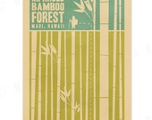 Kipahulu Bamboo Forest - 12x18 Retro Hawaii Travel Print