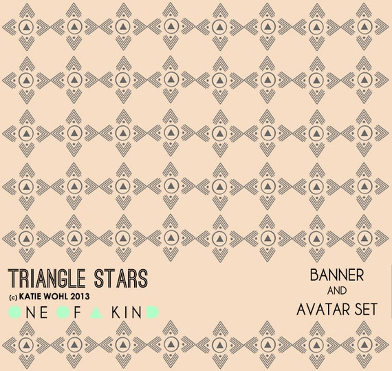 Triangle Stars - banner and avatar set
