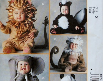 McCall's Costumes Uncut Sewing Pattern TOM ARMA Zoo Safari ANIMALS Toddler Halloween Costume