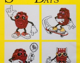 The California Raisins SUNNY DAYS (Multiple Designs) - Counted Cross Stitch Pattern Chart