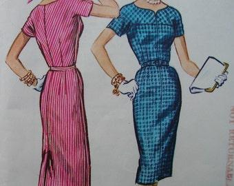 Fabulous Vintage 50's Misses' Instant SLIM DRESS PATTERN Factory Folded