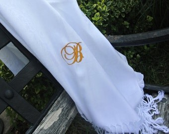 Gifts For Her, Monogram Scarf,  RESERVED LISTNG