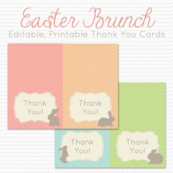 easter thank you cards thank you notes personalized note