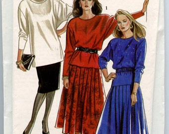New Look 6909 Vintage Sewing Pattern Misses Top & Two Skirts Sizes 8 10 12 14 16 18 UNCUT