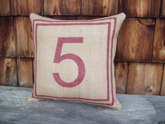 Burlap Five Pillow @NorthCountryComforts