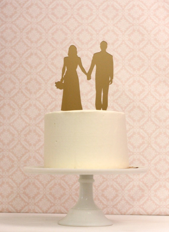 silhouette cake topper custom silhouette wedding cake topper personalized with 7369