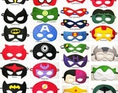 13 felt Superhero Masks party pack - YOU CHOOSE STYLES - Photo prop Wedding Dress up play - Birthday gift for boy - fits Kids Teens Adults