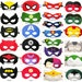11 felt Superhero Masks party pack - YOU CHOOSE STYLES - Photo prop Wedding Dress up play - Birthday gift for boy - fits Kids Teens Adults