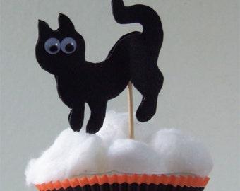 Halloween Cat Cupcake Picks - Cat Cupcake Picks - Halloween Cupcake Picks -Cat Cupcake Toppers - Halloween Cupcake Toppers - Cupcake picks