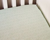 Fitted Crib Sheet Mint Triangle Stack- Mint Crib Sheet- Triangle Crib Sheet- Mint Baby Bedding- Crib Bedding- Organic Sheet- Minky Sheet