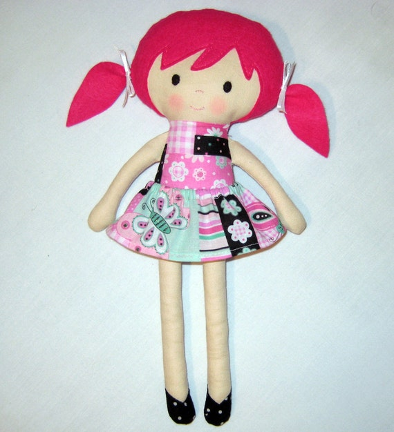 Items Similar To Fabric Doll Rag Doll Cloth Doll Pink