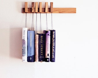 MINI Custom made wooden book rack / magazine rack in Oak / bookshelf