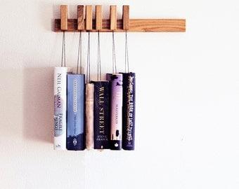 MINI Custom made wooden book rack / magazine rack in Oak / bookshelves