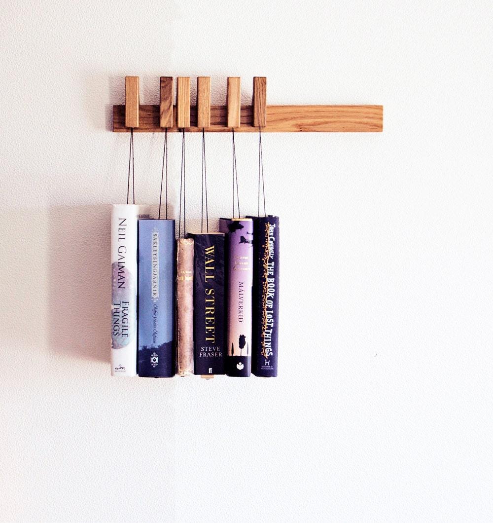 Wood Book Rack ~ Mini custom made wooden book rack magazine in oak
