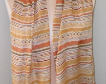 Vintage Silk Scarf by Honey / Fall Fashion / Fall Colors
