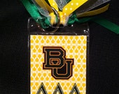 Baylor University Bag Tag - Delta Delta Delta Greek