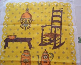 Decorative Towel Antique  Rocking Chair  Linen