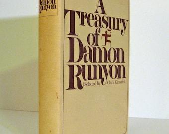 Damon Runyon A Treasury of Damon Runyon Late Modern Library Edition circa 1977 Vintage Book