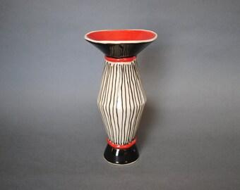 Handmade Ceramic Vase, tulip Vase, Bud Vase