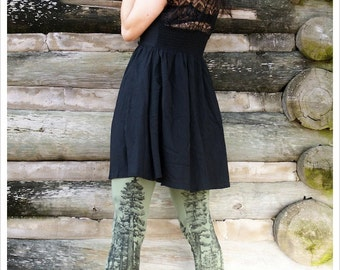 Redwood Forest Leggings - Womens Legging - OLIVE - Tights - tree tights -  LARGE