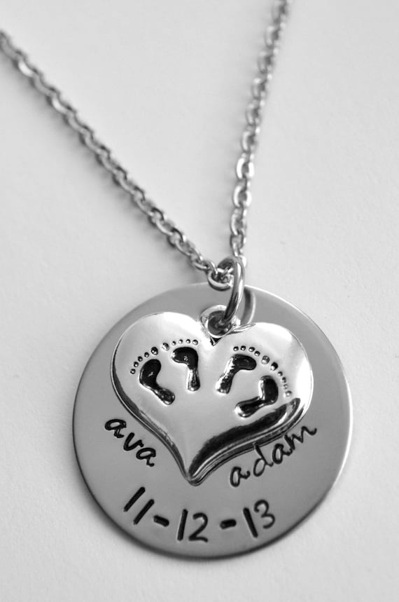 twins necklace mom of twins necklace by lauriginaldesigns