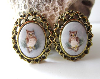 Adorable Owl Clip Earrings