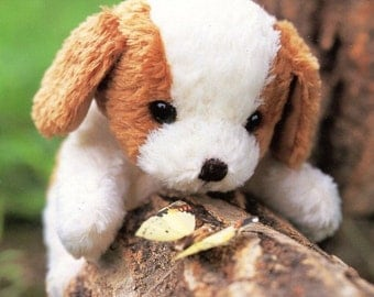 Cute Saint Bernard Puppy Plush Sewing Pattern PDF