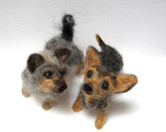 Custom needle felted pet sculpture, 3D dog portrait, dog meme, pet replica, fiber sculpture, realistic dog, MADE to ORDER by nodsu