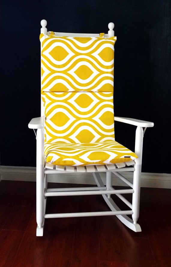Rocking Chair Cushion Cover Yellow Emily By RockinCushions