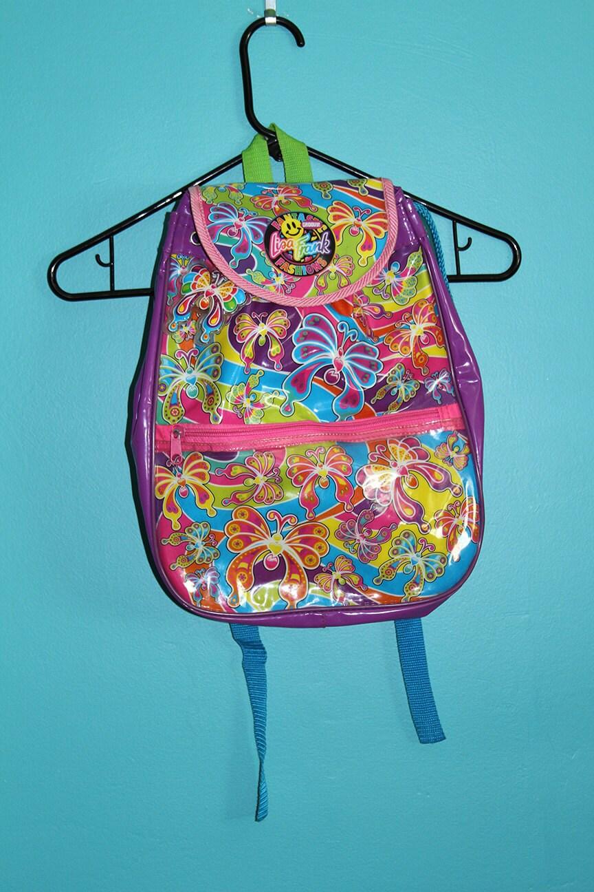 90s Lisa Frank Groovy Butterflies Backpack