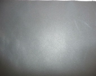 "Leather 20""x20"" DIVINE Medium Gray Top Grain Cowhide 2.5 oz /1 mm PeggySueAlso™ e2885-31"