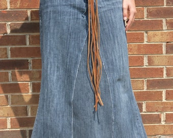 Long Jean Skirt - Made To Order