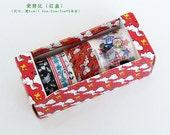 Masking Tape set (4 rolls) (snoopy)(red, blak)