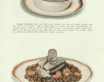 1911, Edwardian Food, wall art print, 100 years old