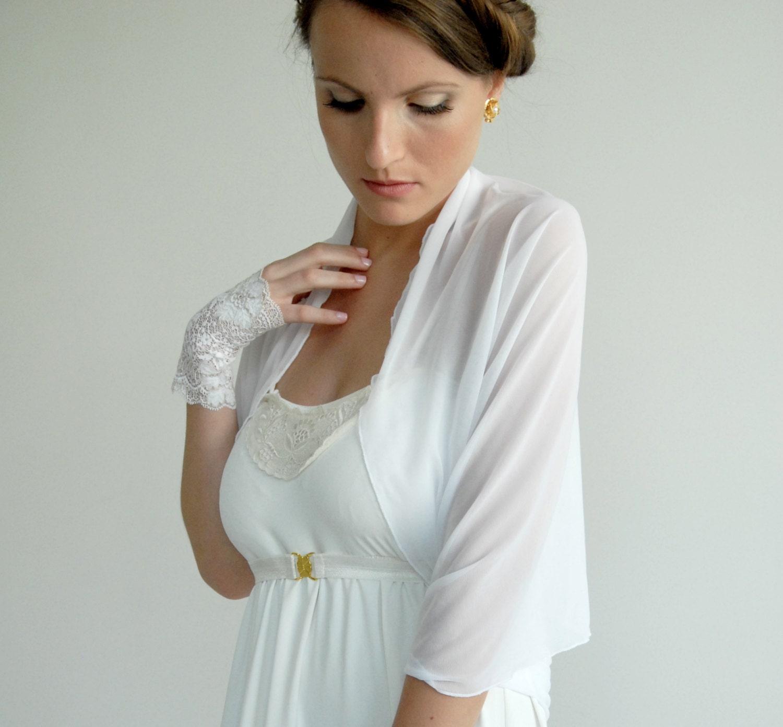 White Bridal Shrug 4 Options Wrap Shawl Shrug By Noavider