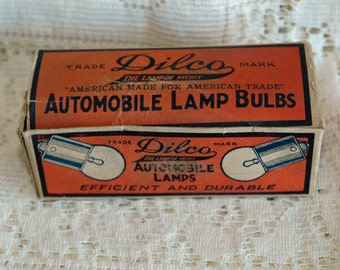 ADDITIONAL 10% OFF...SALE  Vintage Dilco Automotive Lamp Bulb Box Automobile Advertising