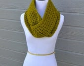 Lime Green Circle Scarf- Size SMALL