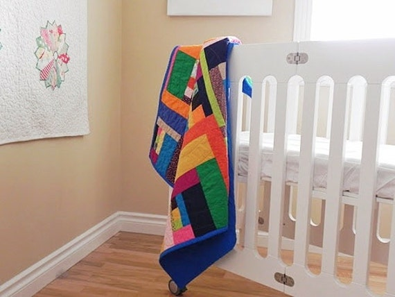 "ONE SADIE Baby Quilt - Baby Blanket, Stroller Blanket, Cuddle Quilt, Quilted Patchwork - 35"" X 35"""