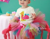 Whale Themed Birthday Tutu Outfit, Ocean Themed Birthday Tutu Outfit, Under the Sea Birthday Tutu Set *Bow NOT Included*