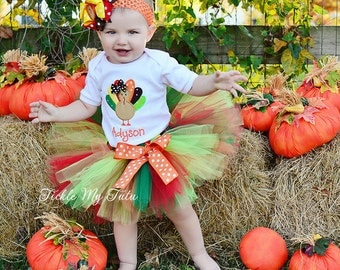 Little Turkey Thanksgiving Tutu Outfit-Thanksgiving Pageant Outfit-My First Thanksgiving Tutu Outfit *Bow NOT Included*