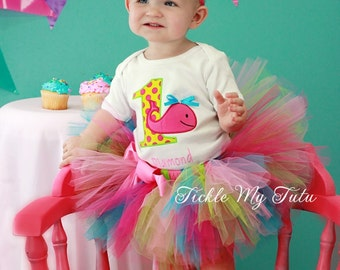 Whale Themed Birthday Tutu Outfit-Ocean Themed Birthday Tutu Outfit-Under the Sea Birthday Tutu Set *Bow NOT Included*