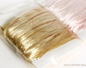 SALE Pearl Wheat Raffia Ribbon - 30/100 yards - 1/4 inch wide