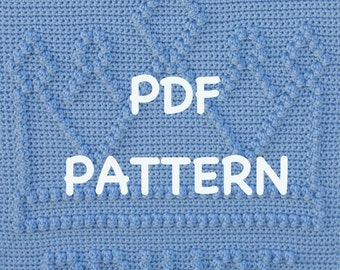 Prince Crown Baby Blanket  Pattern - Crochet Baby Security Blanket  - Baby Snuggle Blanket - Carseat or Stroller Blanket
