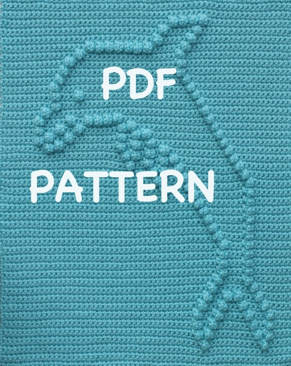 Dolphin Baby Blanket Pattern - Crochet Pattern - Crochet Baby Blanket  - Baby Snuggle Blanket  - Car Seat or Stroller Blanket