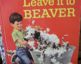 "Vintage Leave it to Beaver Little Golden Book, ""A"" Edition, 1959"