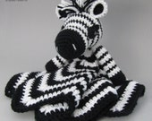Zany Zebra Lovey - CROCHET PATTERN instant download  - blankey, blankie, security blanket