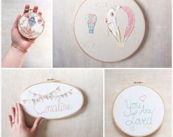 Pastel Nursery Art Design Your Own Set of Four
